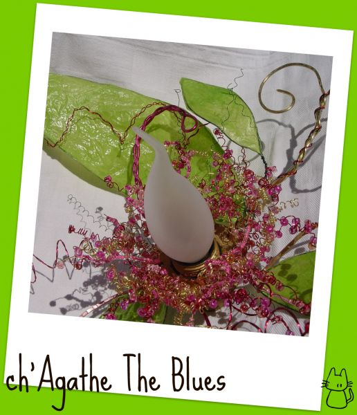 une lampe fleur pour le printemps at ch agathe the blues. Black Bedroom Furniture Sets. Home Design Ideas