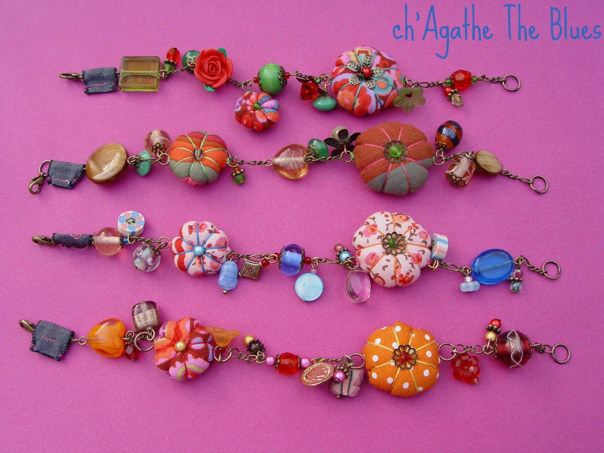 Bracelets tissus breloques originaux at ch agathe the blues - Bracelets bresiliens originaux ...