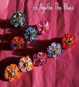 Bagues et barettes textiles... kanzashi dans bijoux en couleur... laure-011-274x300