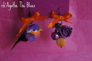 Boucles dépareillées... oiseaux dans bijoux en couleur... laure1-029-300x199