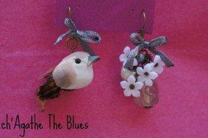 Boucles d'oreilles dépareillées... oiseaux dans bijoux en couleur... DSC03481-300x199